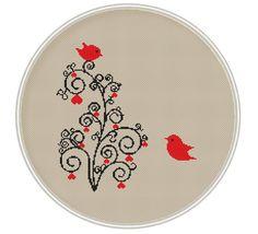 Love tree cross stitch pattern Instant von MagicCrossStitch auf Etsy