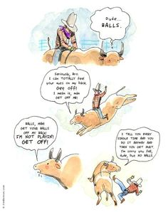 What Goes Through a Bull's Mind During a Rodeo --- Hilarious!