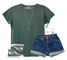 """I'd wear this"" by lilypackard ❤ liked on Polyvore featuring Levi's, Converse, Kendra Scott and Alex and Ani"