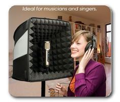The Porta-Booth Pro - Your Recording Studio at Home and on the Road <-- another portable vocal booth idea. Audio Studio, Music Studio Room, Sound Studio, Music Rooms, Studio Gear, Studio Setup, Recording Booth, Ideas Habitaciones, Recording Studio Design