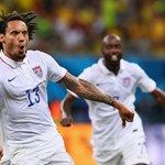 Jermaine Jones of the United States celebrates after scoring his team's first goal