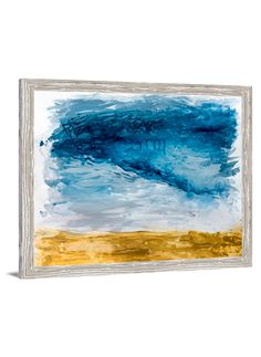 Landscape Art - Chambray Sky Abstract Canvas Art by Lindsay Letters.