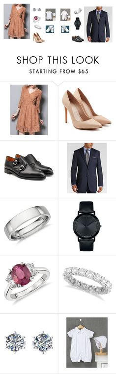 """""""CAWM At The Church"""" by mommyzilla ❤ liked on Polyvore featuring Alexander McQueen, Ludwig Reiter, Joseph Abboud, Blue Nile, Movado and Allurez"""