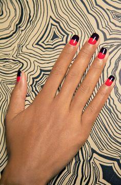 Geometric nail art for fall