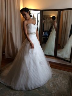 The skirt on this is so dreamy. Not to wide, but I think this was the heavier ball gown.