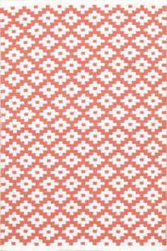 Dash & Albert | Samode Coral/White Indoor/Outdoor Rug