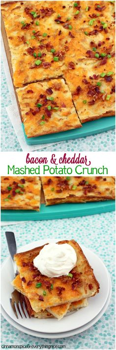 Bacon & Cheddar Mashed Potato Crunch
