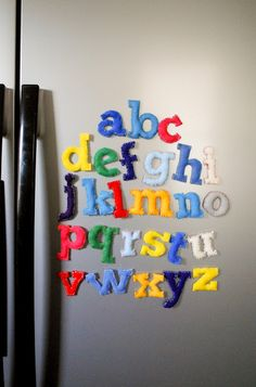 These abc magnets can help children learn their abc's