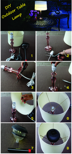 DIY OUTDOOR SOLAR LAMP  http://www.houzz.com/ideabooks/12672158/list/Light-Up-Your-Night-With-an-Easy-Outdoor-Table-Lamp
