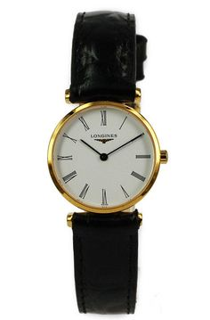 Some day - longines ladies watch leather strap but brown leather!