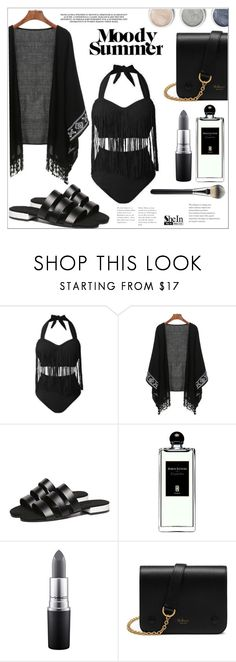 """""""Moody Summer"""" by mycherryblossom ❤ liked on Polyvore featuring Serge Lutens, MAC Cosmetics, Terre Mère and Mulberry"""