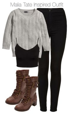 """""""Teen Wolf - Malia Tate Inspired Outfit with requested sweater"""" by staystronng ❤ liked on Polyvore featuring Topshop, H&M, Charlotte Russe, Glamorous, TeenWolf, tw and maliatate"""