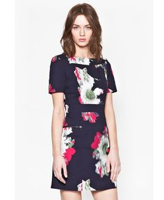 Cotton-blend structured dress Wilderness Bloom digital floral print Fitted waistband Cut-out panels at back Front zip pockets Exposed zip at back UK size 10 length is Our model is and is wearing a UK size Blue Dresses, Dresses For Work, Structured Dress, Occasion Wear, Dresses Online, Cold Shoulder Dress, High Neck Dress, Short Sleeve Dresses, Mens Fashion