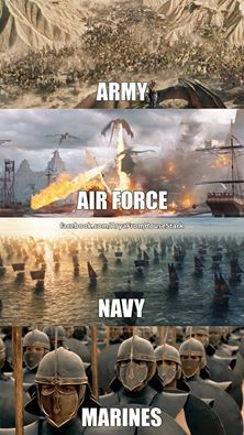 Game of Thrones meme. That's why she took her time to come to westeros. Now Dany's military force is on point
