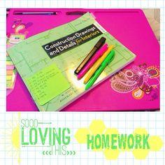 Homework makes me happy! // Photo via mscosmochic on Instagram