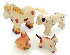 Wooden Holztiger Pets Set, 4pc