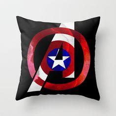 Captain America Avengers Throw Pillow by foreverwars - $20.00