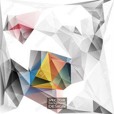 Multicolor (amarillo, Azul, Gris) Plantillas De Diseño. Fondo Geométrico Triangular Abstracta Moderna Del Vector. Ilustraciones Vectoriales, Clip Art Vectorizado Libre De Derechos. Pic 36111032.