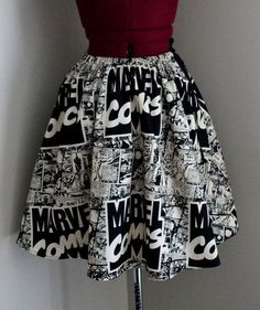 Marvel Comics Womens Skirts Comic Book Skirts Vintage by tintiara Marvel Fashion, Nerd Fashion, Fandom Fashion, Lolita Fashion, Marvel Comics, Marvel 3, Mode Outfits, Fashion Outfits, Womens Fashion