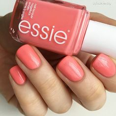 Paint on pretty pink peach 'lounge lover' for a perfect springtime mani.