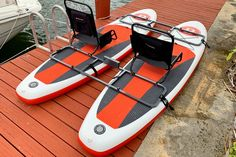Make DIY motorized or sail catamaran out of 2 SUP paddle boards. Join 2 inflatable paddle boards together, using our unique frame. Add trolling motor and enjoy fishing or pleasure cruising. Sup Paddle Board, Inflatable Paddle Board, Inflatable Sup, Kayak Fishing Tips, Canoe And Kayak, Electric Trolling Motor, 5th Wheel Trailers, Kayak Seats, Cars