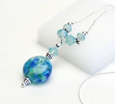 Lakeside Collection  Blue Aqua Blue and Green by lilicharms, $22.00