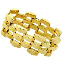 1940s_Retro_14k_Yellow_Gold_Bracelet | New York Estate Jewelry | Israel Rose