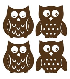 Cute simple owl silhouette to use as a template for pendants.