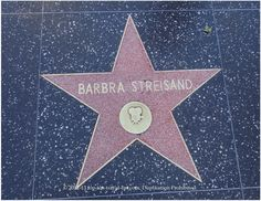 Barbara #Streisand star on #Hollywood Walk of Fame