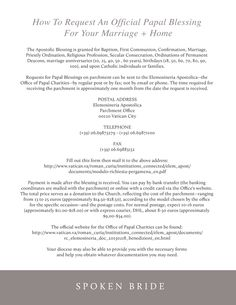 Request a papal blessing Catholic Marriage, Christian Marriage, Christian Life, Papal Blessing, A Blessing, Marriage Anniversary, Anniversary Ideas, Wedding Invitation Paper, Spiritual Practices