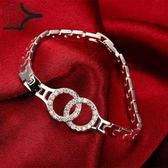 2016 New Arrival Silver Plated Bracelet,Wedding Jewelry Accessories,Fashion Silver Classic Watch-shaped Bracelets Bangle