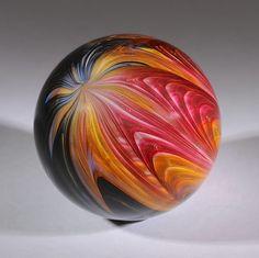 Wald Glass Hand Made Art Marble Aventurine / Lutz 1.88 #Waldglass #Contemporary