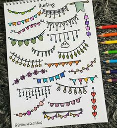 Stationery Pal These buntings are so colorful it must be an awesome element for your bullet journal Credit to Borders Bullet Journal, Bullet Journal Writing, Bullet Journal Banner, Bullet Journal School, Bullet Journal Aesthetic, Bullet Journal Notebook, Bullet Journal Ideas Pages, Bullet Journal Inspo, Bullet Journal Dividers