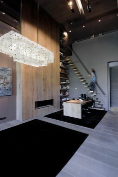 floating stairs in an innovative interior design
