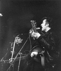 The Beatles (April, 1961. The Beatles at the Top Ten Club, 136 Reeperbahn, St. Pauli, Hamburg, Germany)
