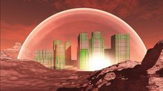 """An MIT team has developed an urban design for the planet Mars called """"Redwood Forest."""" It won the Mars City Design which is an international competition with the theme of building . Space Tourism, Space Travel, In The Year 2525, Mars Colony, Red Rising, Red Planet, Redwood Forest, Bill Of Rights, Life On Mars"""