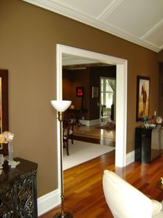 Color To Paint Interior Doors | Interior Painting Image Dark Chocolate