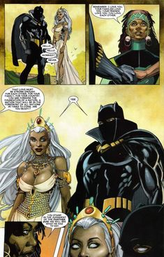 The marriage (and divorce) of Storm and Black Panther