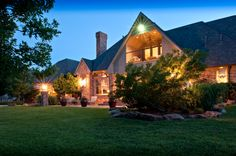 This outstanding, custom built residence was completed in 2001 on a unique, tree and creek-lined 2.7 acres. The home and grounds are encircled by a premium iron security gate and tall fencing. The sweeping circular driveway and home are highlighted by professional landscaping and expert-installed lighting system.