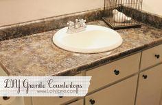 DIY Granite Countertops by LollyJane
