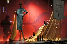 "ISETAN SHINJUKU, Tokyo,Japan,""I will lift the curtain on Italian Week"", pinned by Ton van der Veer"