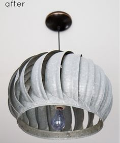Pendant lighting from upcycled exhaust fan, home decor.