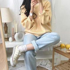 Korean Girl Fashion, Korean Fashion Trends, Ulzzang Fashion, Korean Street Fashion, Asian Fashion, Look Fashion, Fashion Outfits, Fashion Ideas, Fashion Clothes