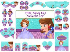 Sofia The First Birthday Party Package Printable Set