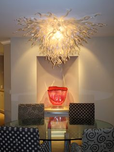 Factory Outlet Lighting Chandeliers Amber Color Dale Chihuly Murano Glass Chandeliers Hanging Glass Led Lighting For Hotel Decor Driving A Roaring Trade Chandeliers