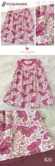 Pink Chicken Dress (6-12m) Adorable used Pink Chicken paisley dress in size 6-12m. Cost so much $$$ new! 🙄 So sweet! Bundle to save even more — I have tons of kids clothes and my closet's meant to be bundled! Hope you enjoy ♥️ Pink Chicken Dresses
