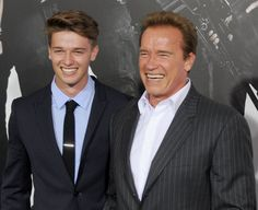 Pin for Later: 21 Celebrity Dads Who Are Nearly Identical to Their Sons Arnold Schwarzenegger and Patrick Schwarzenegger