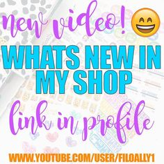 New video is up on my channel! I give you guys a close up at what's in my shop @glitterqueenpapercompany  by filoally