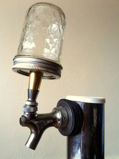 Ball Jar beer tap handle. What would you put in yours? Super hero figurines, barley, ...?