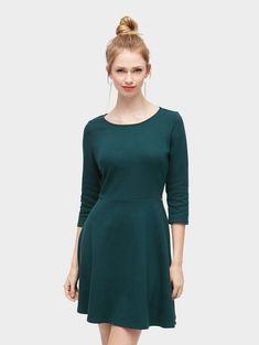f2b362a260 Tom Tailor Denim Jerseykleid »schlichtes Skater-Kleid« für 45